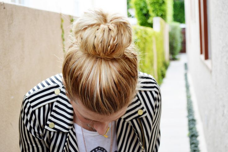 A braided sock bun tutorial-- takes the lazy sock bun to the next level.
