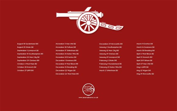 A selection of desktop wallpapers in a range of sizes for fans of Arsenal FC.