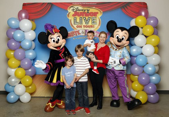 Melissa Joan Hart Photos: Melissa Joan Hart, Husband Mark Wilkerson And Their Sons Tucker, Braydon And Mason Meet Mickey Mouse And Minnie Mouse At A Performance Of Disney Junior Live On Tour! Pirate & Princess Adventure