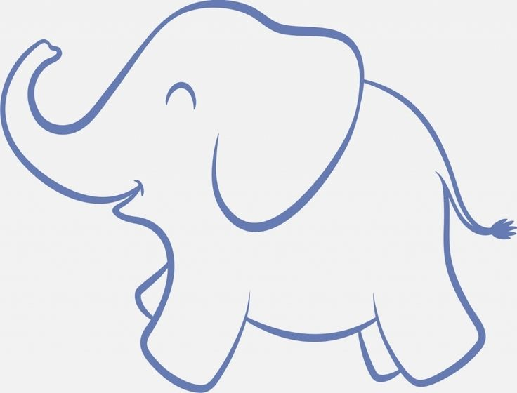 25+ unique Elephant outline ideas on Pinterest   Easy ...