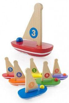 $3.98 Little Wood Sail Boat Bath Tub Fun | ToySmith