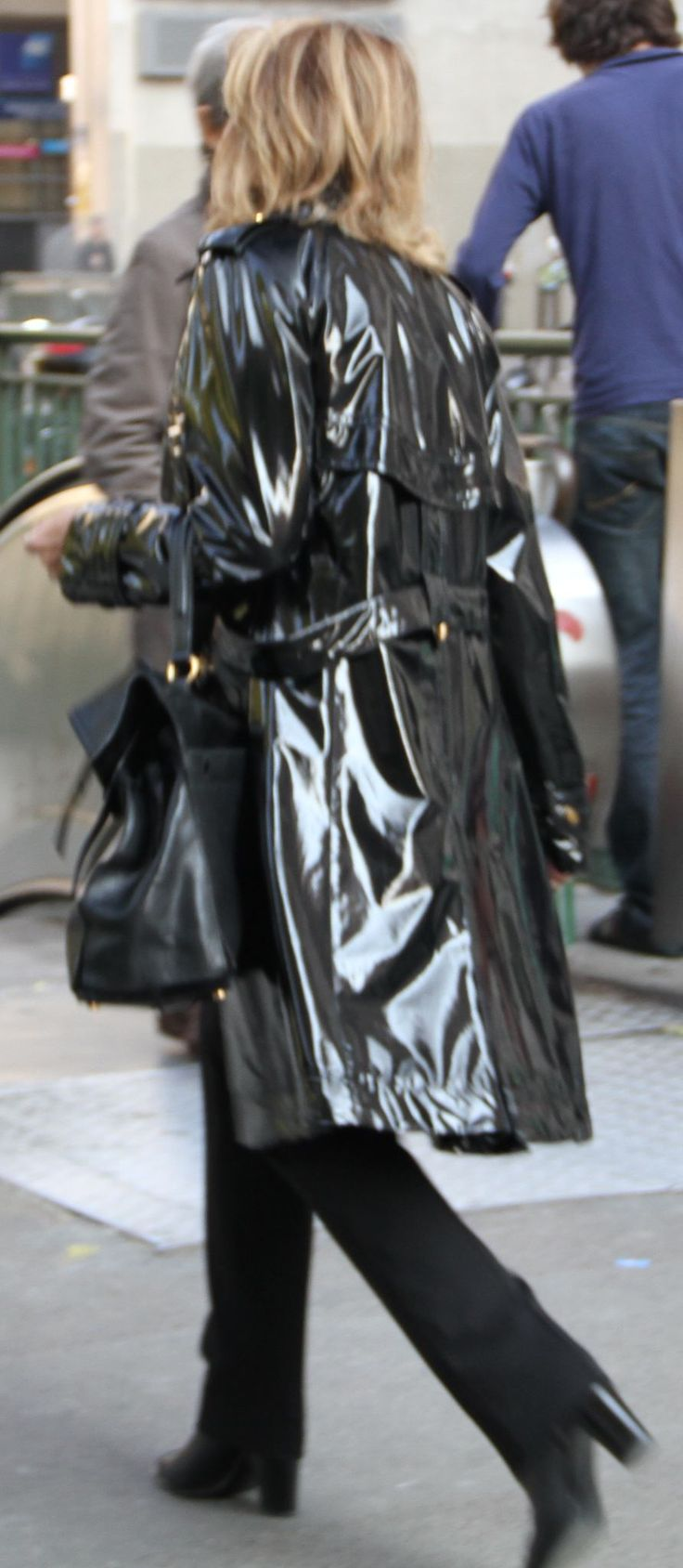 Black Pvc Mac Raincoats Pinterest Black And Mac