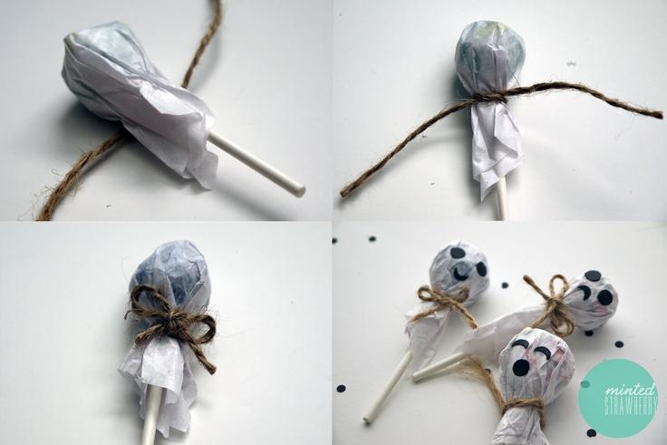 DIY: ghost lollipops!