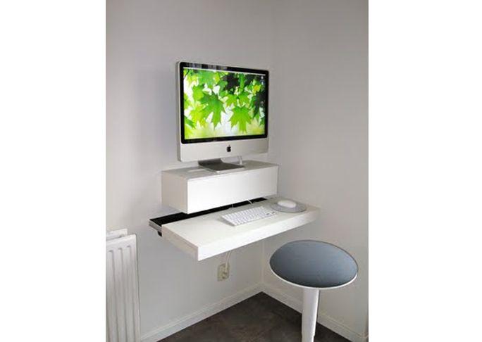 iMac Computer DeskA fond iMac user myself, I would love to hack together a minimal standing desk to use.