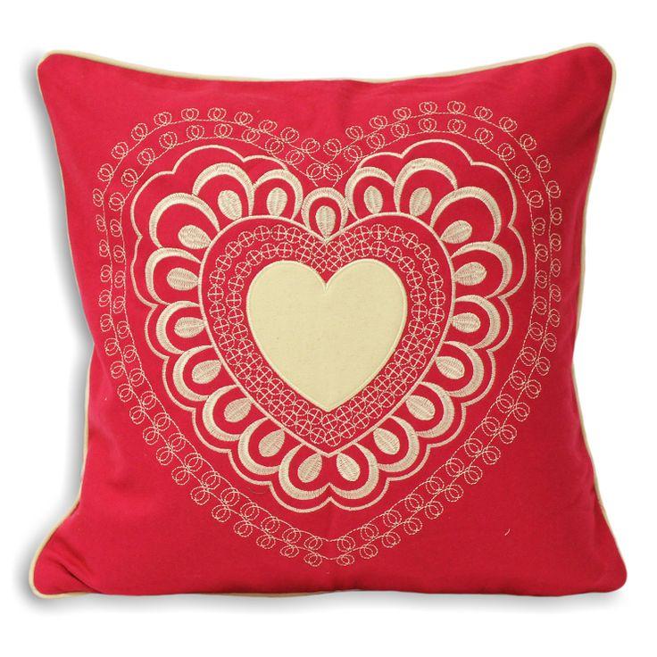 Valantine 45x45cm Cushion, Fuchsia | ACHICA