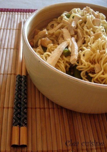 nouilles chinoises sautées au wok