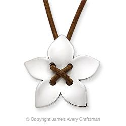 Flower on Leather Necklace from James Avery