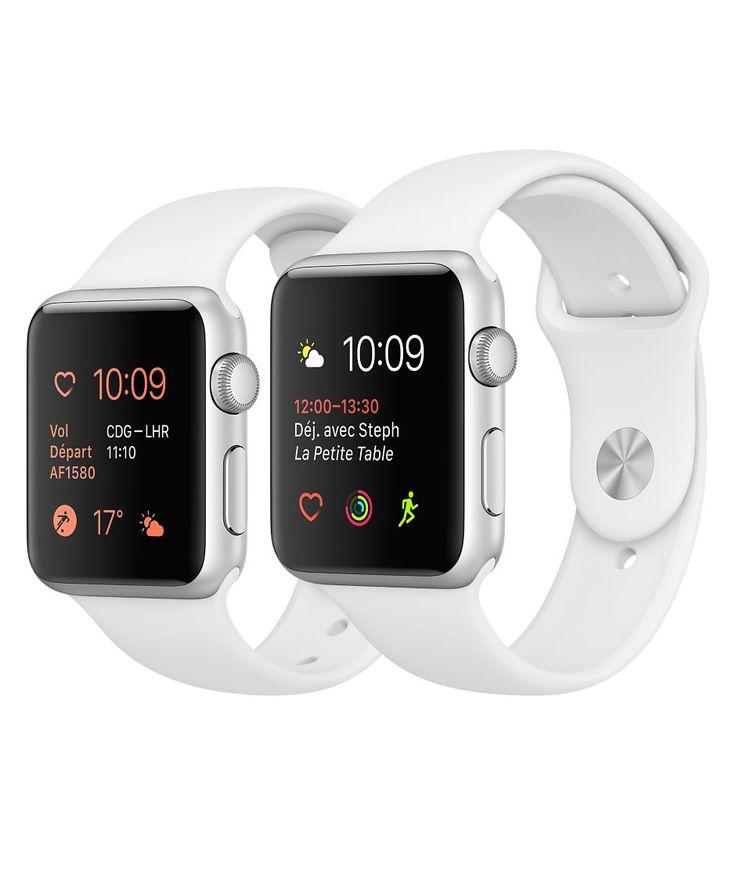 Achetez l'Apple Watch avec boîtier en aluminium argent de 38 mm ou 42 mm. Disponible en Series 1 ou Series 2 avec GPS intégré. Achetez en ligne et profitez de la livraison gratuite, ou rendez-vous dès aujourd'hui dans un Apple Store.