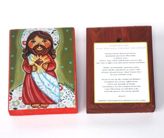Sacred Heart of Jesus First communion favors by UnderAngelWings