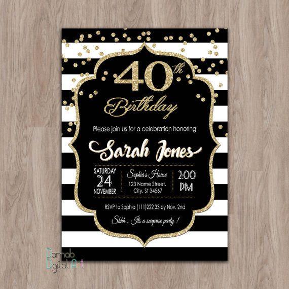 40e verjaardag uitnodiging vrouwen 40e verjaardagsuitnodiging