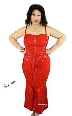 Red Bandage Dress (Size Plus)