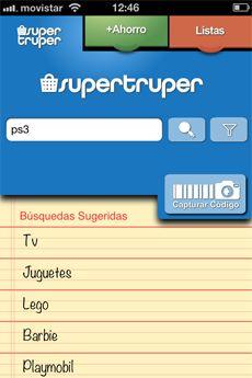 Supertruper, una app para comparar precios de supermercados.