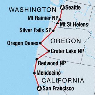 Trip Map Seattle To San Francisco Road Trips