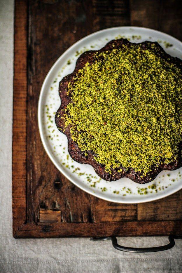 Torta con Mandorle e Pistacchi (senza farina, senza olio e senza burro)