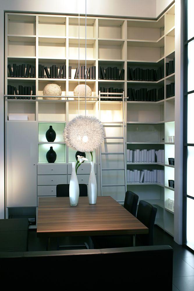 Contemporary shelf storage space.