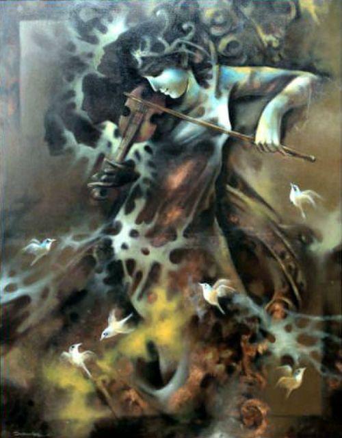 Buy Paintings Online by Artist Subhankar Haldar - Melancholy 2 - CE100997