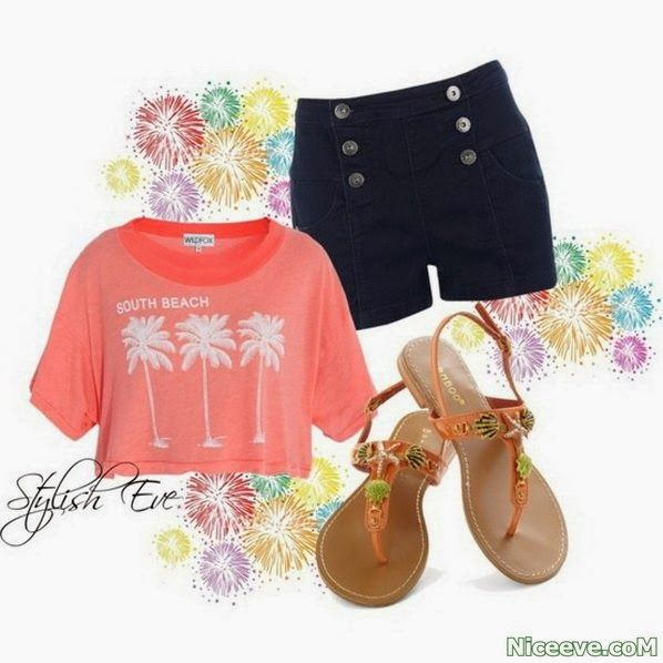 summer teen fashion 2014   teens fashion clothes Spring/ Summer 2014 Outfits with Shorts