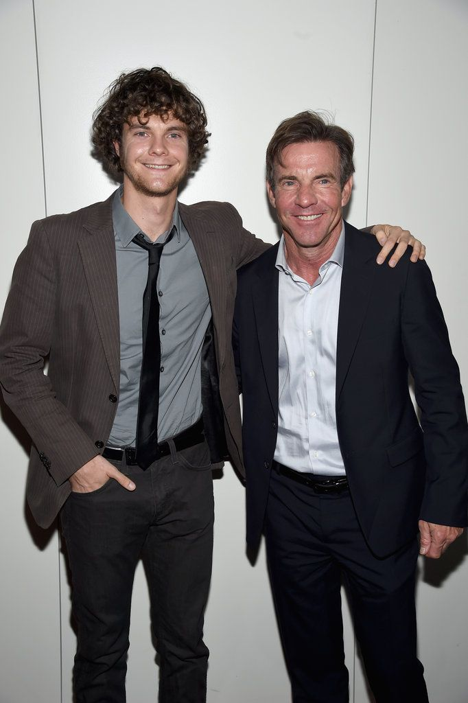 Dennis Quaid with son Jack. Meg Ryan is Mom.