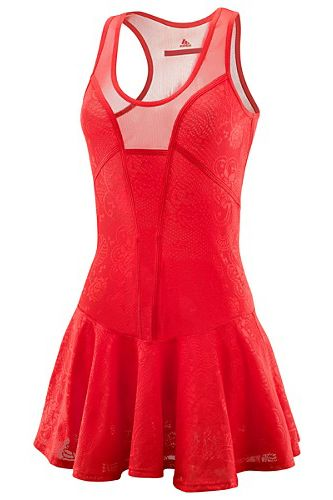 A red tennis dress for my wife! beyond obsessed with this tennis dress! if only it came in white!