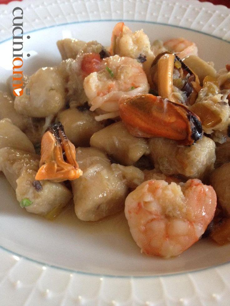 Gnocchi di ceci allo scoglio - Chickpea gnocchi with seafood #food #foodie #recipe
