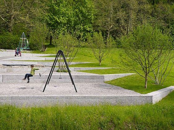 Aire de jeu en palier à Thoune en Suisse