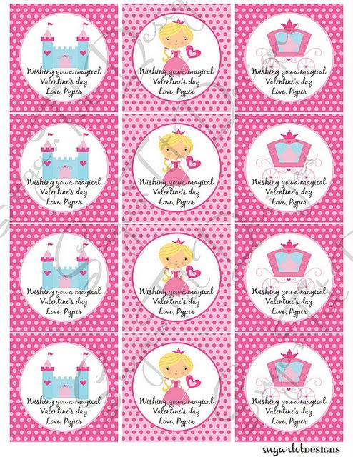 Free Printable Princess Valentines Valentines
