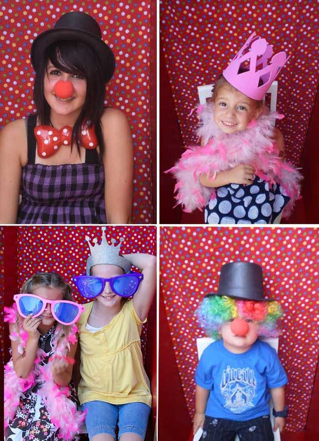 Circus Party Theme. With carnical/circus games and a DIY photo booth!