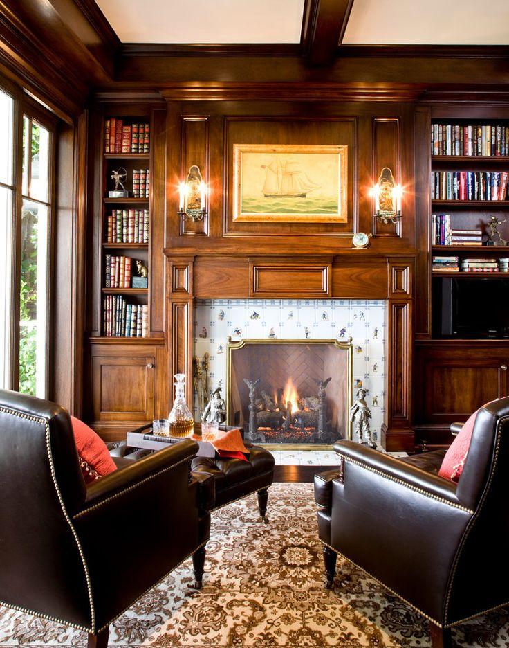 Английский стиль в интерьере (43 фото): аристократично, сдержанно и изысканно http://happymodern.ru/anglijskij-stil-v-interere-43-foto-aristokratichno-sderzhanno-i-izyskanno/ Очаровательный британский интерьер с камином и кожаными креслами