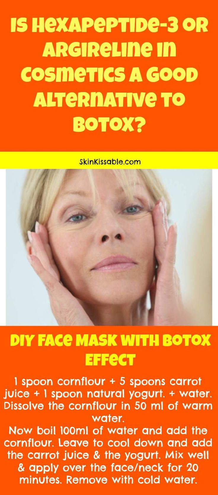 Hexapeptide 3 in Skin Care & Cosmetics. Is it really as good as botox? DIY face lift mask.