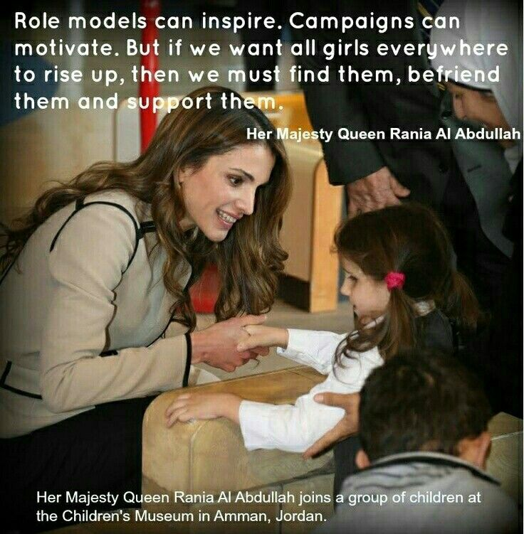 It's very rear finding a Man with a Female Role Model well me being a Man and seeing RANIA of Jordan not only as a Role Model but as my number one HUMANITARIAN well she must be a special lady and believe me she's definitely on a totally different level of AWESOME.