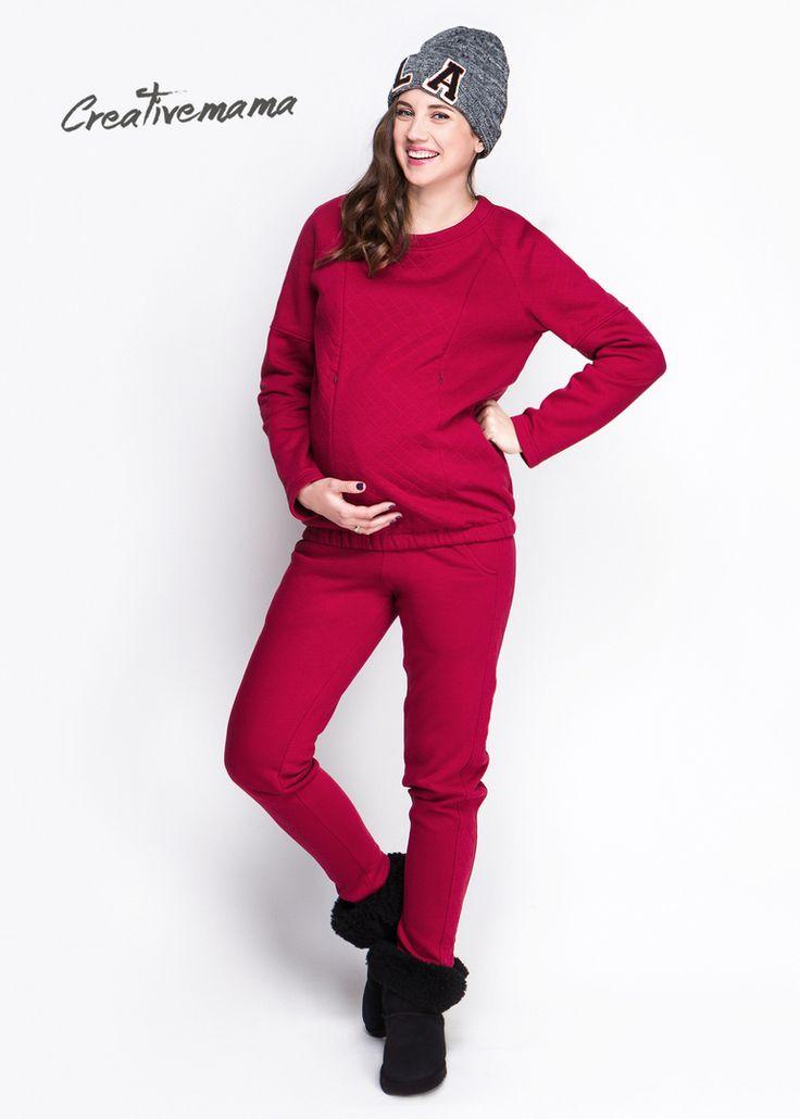 Брючки Marsala (хлопок с начесом)   Для Беременных и кормящих мам, можно носить после беременности и грудного вскармливания. Супер теплые комфортные брючки изготовлены из хлопка с начесом и согреют мамочку в холодную пору года. Идеальные для любой поры года кроме лета) можно носить от +13 до -15, при температуре свыше 15 градусов, рекомендуем поддевать леггинсы на флисе и тогда морозы Вам не страшны. Брючки оснащены широким поясом из хлопковой резинки рибана. Фишка брючек — стеганый лампас…