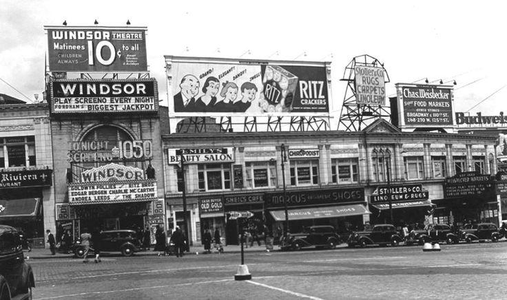 Kingsbridge Road off Fordham Road. The Windsor Theatre, 313 East Kingsbridge Road. (May 11th 1938)