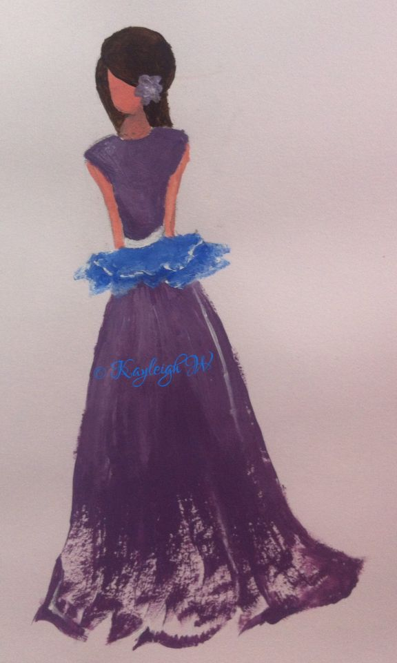 Purple dress Fashion Illustration © Kayleigh W