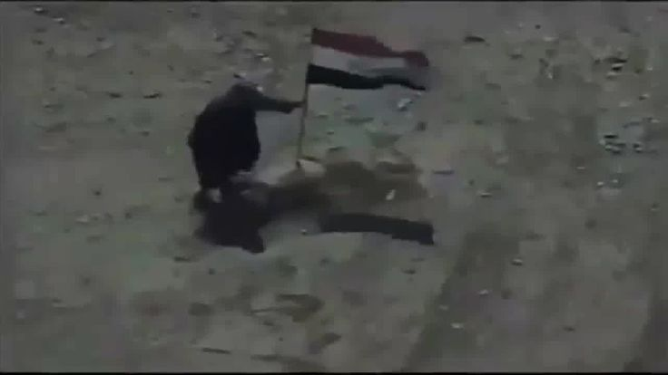 when he tried to take it down. BOOOM - his buddy was killed also thanks to Iraqi Army Aviation Corps.Nice job Iraqi air force terrorists go poof lol.
