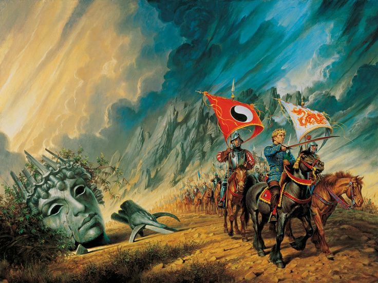 Darrell K. Sweet's cover for book 8 of the Wheel of Time series, The Path of Daggers