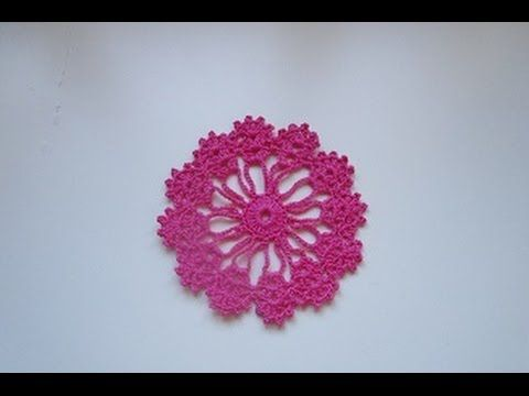 How to Crochet a doily  coaster motif lace tutorial  diy mantilla simple...