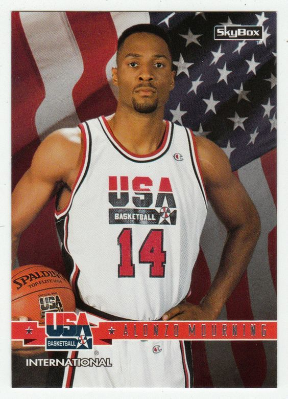 Alonzo Mourning # 1 - 1994 SkyBox USA Basketball