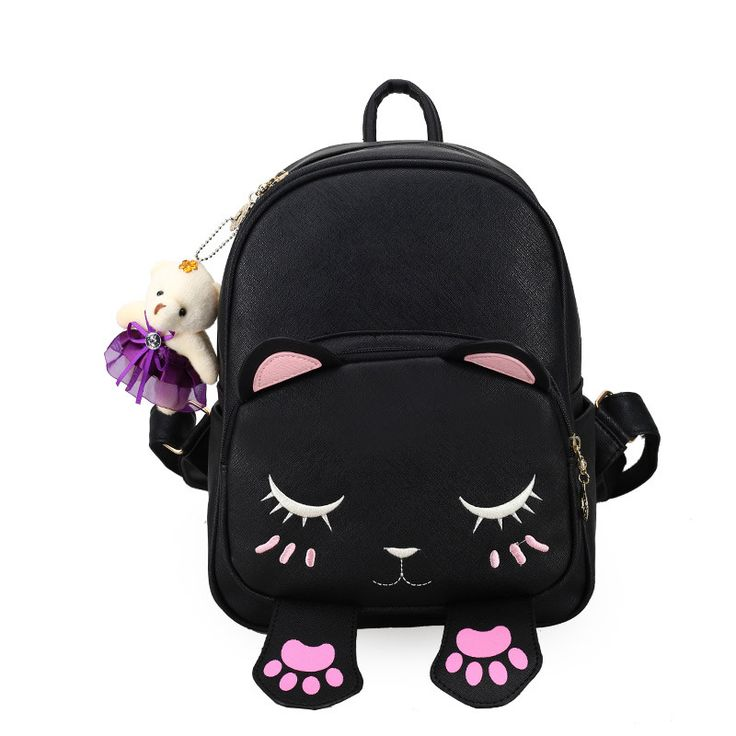 2017 Cat Backpack New Fashion PU Leather Backpacks Teenage Girls Cute Cartoon Preppy School Bag Student Rucksack Mochila XA1780C #Affiliate