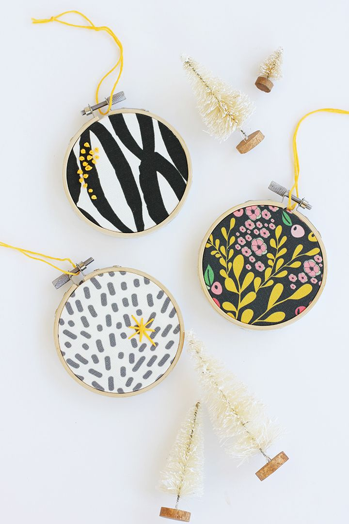 Diy embroidery hoop ornament trees crafts and
