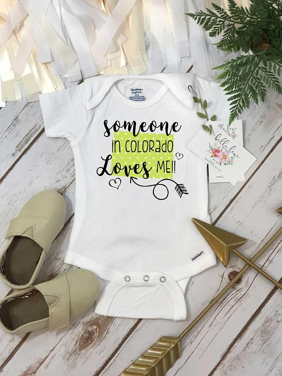 Colorado Onesie®, Baby Shower Gift, Someone in Colorado, State Onesie, from Colorado Love, Niece Gift, Gift from Auntie, Nephew Gifts, State