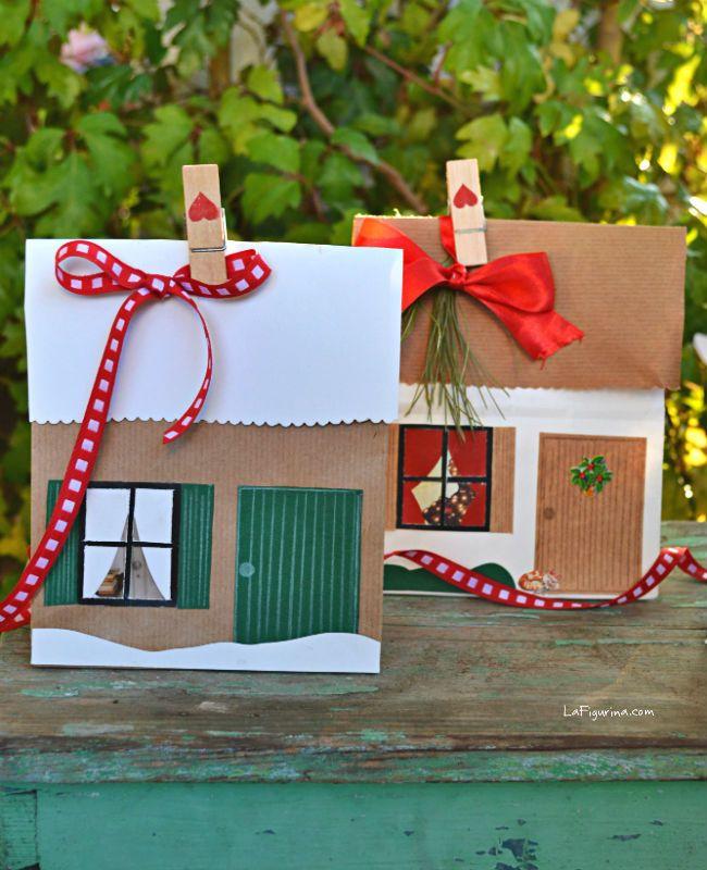 Buste regalo fai da te, scopri il mio nuovo video tutorial semplice e dettagliato e realizziamo insieme delle graziose buste regalo a forma di casetta