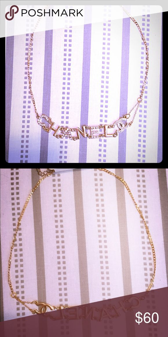 Choker necklace Choker necklace. Like Chanel. Price reflects authenticity! Have two of them, please drop me a message how many you want. CHANEL Jewelry Necklaces