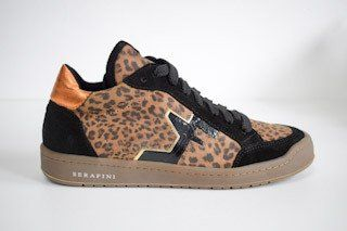 SERAFINI San Diego Low Leopard Beige with a touch of orange