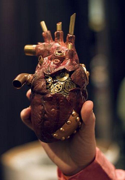 Clockwork heart sculpture. | Steampunk/Burns | Pinterest