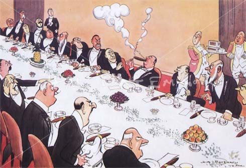 The Man Who Lit His Cigar Before the Royal Toast - H M Bateman