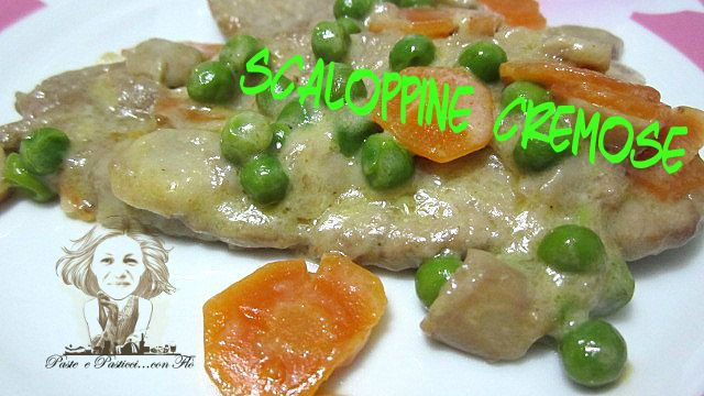 scaloppine cremose con verdure