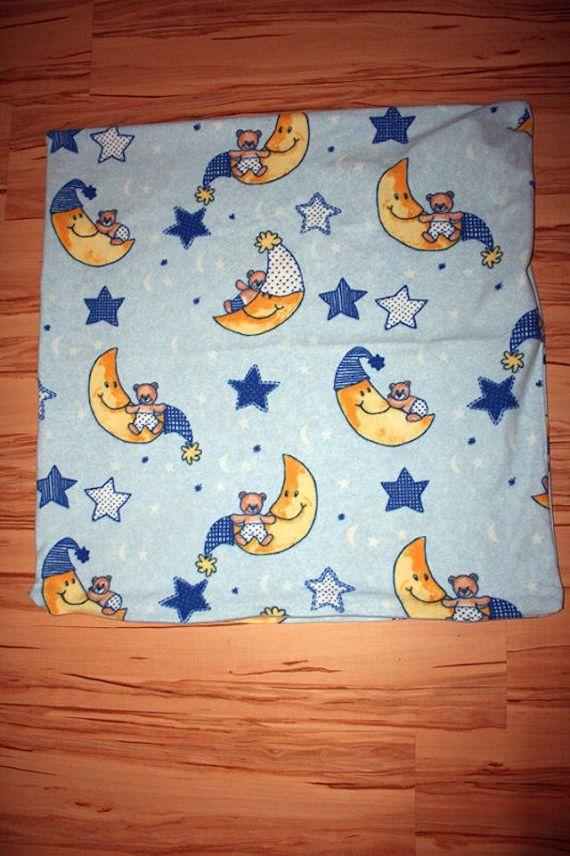hellblaue Bären / Mond / Sterne Winter Bettwäsche 135x200