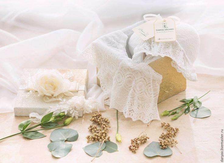 Buy Комплект свадебного белья №1 - белый, белое белье, белый бюстгальтер, свадебное белье