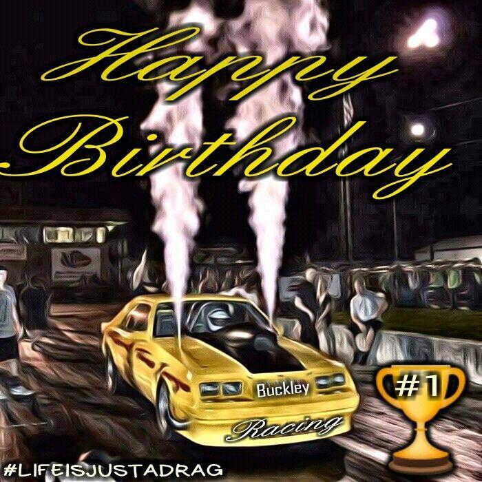 Happy birthday drag racing Mustang