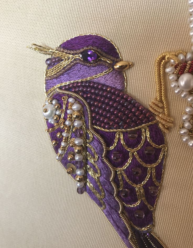 Next piece (made by Larissa Borodich), Magic Lantern, inspired by Hanna's works. https://www.facebook.com/hannakarlzon/?fref=ts Goldwork, stumpwork, pearls, beads, check purl, pearl purl, silk threads, etc. Size approximately (19 by 27 cm) 7 by 10 inches.